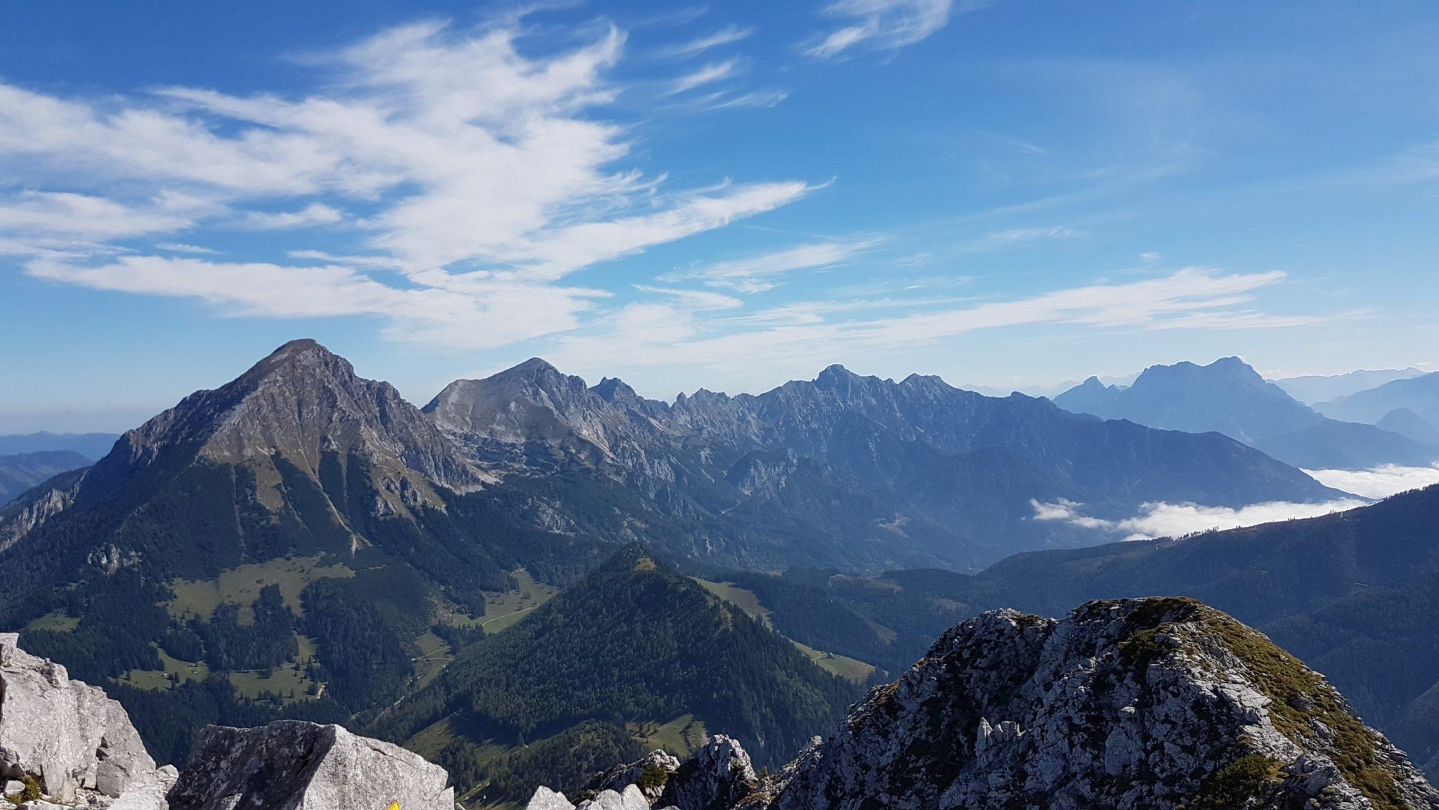 Hallermauern von Bosruck Gesäuse Wildfrauenhöhle Ardningalm Privatzimmer und Ferienwohnungen Gassner Nationalpark Gesäuse
